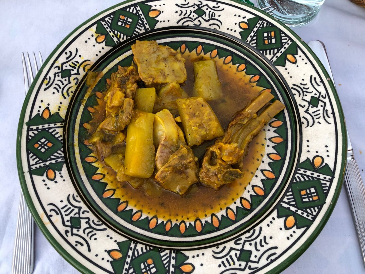 Lamb tagine on a beautiful plate