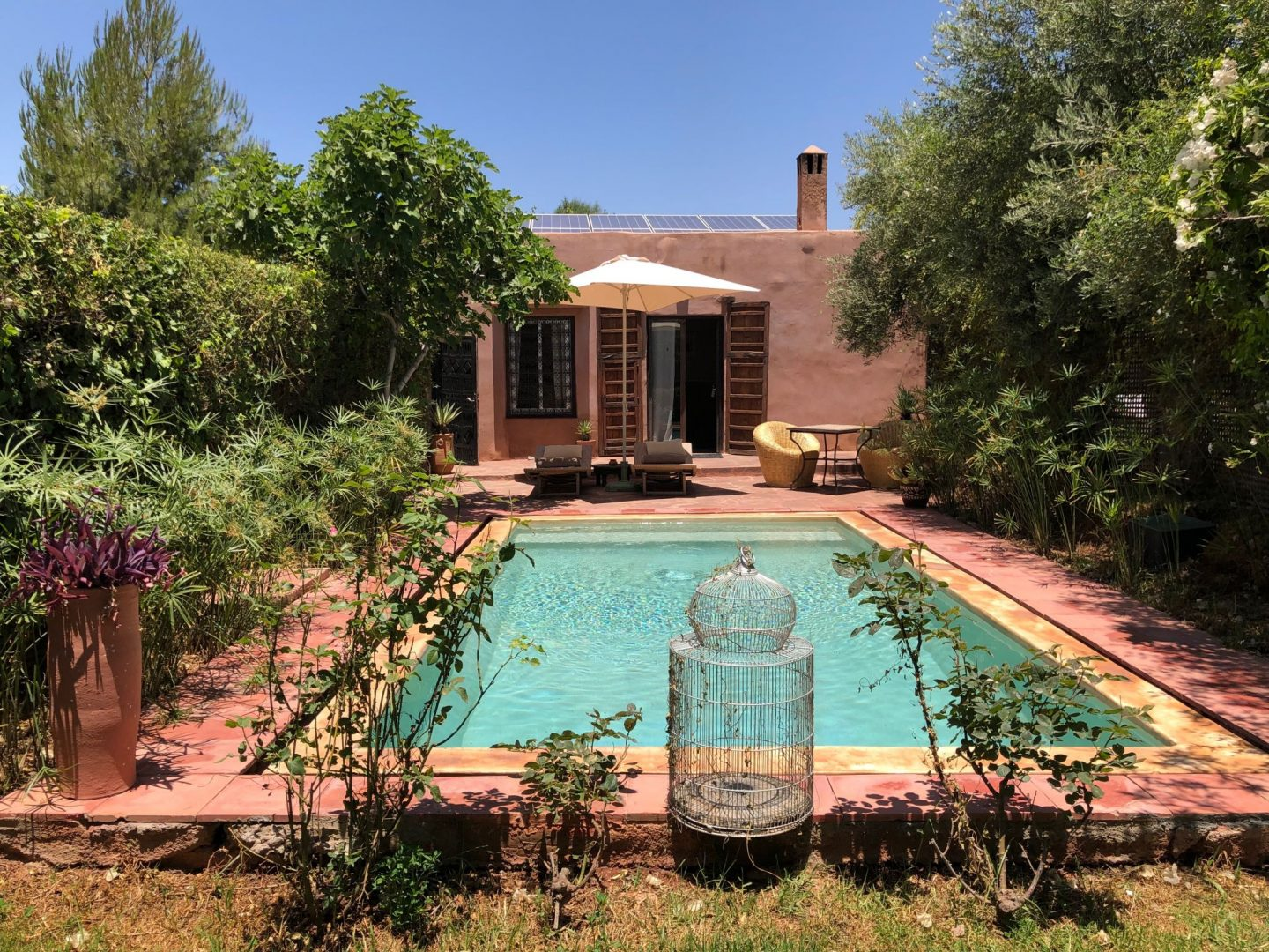 Luxury hotel Kasbah Bab Ourika Garden room with a pool. Elisha couldn't contain her excitement when she found out the room came with a pool