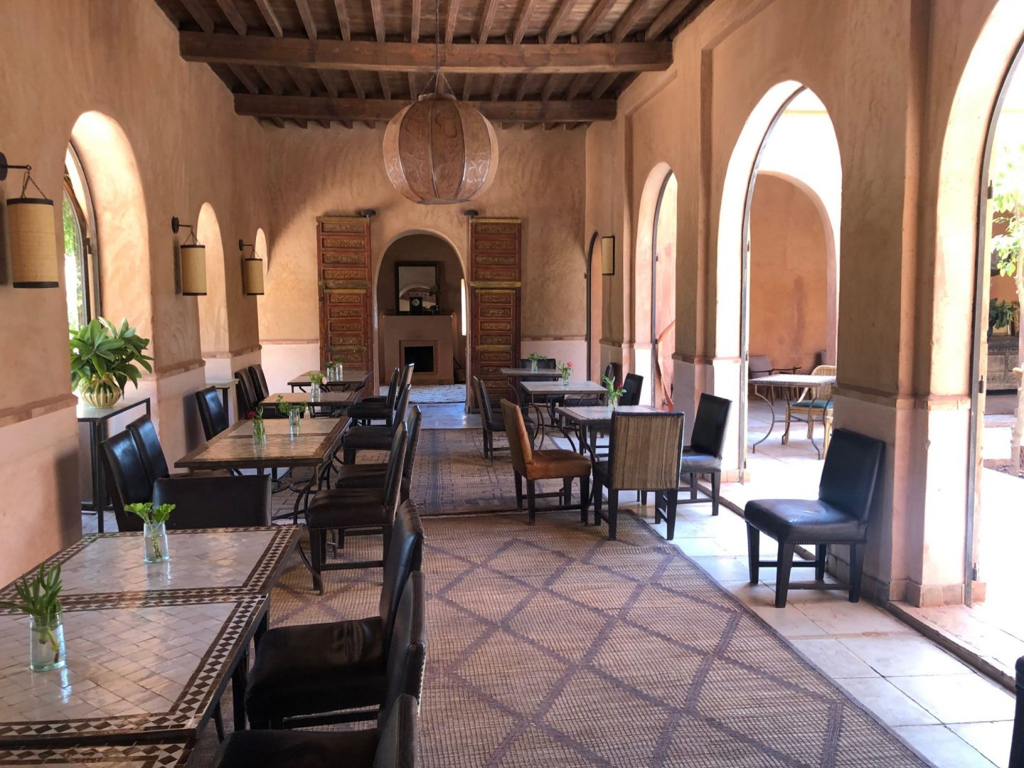 Breakfast inside the Kasbah