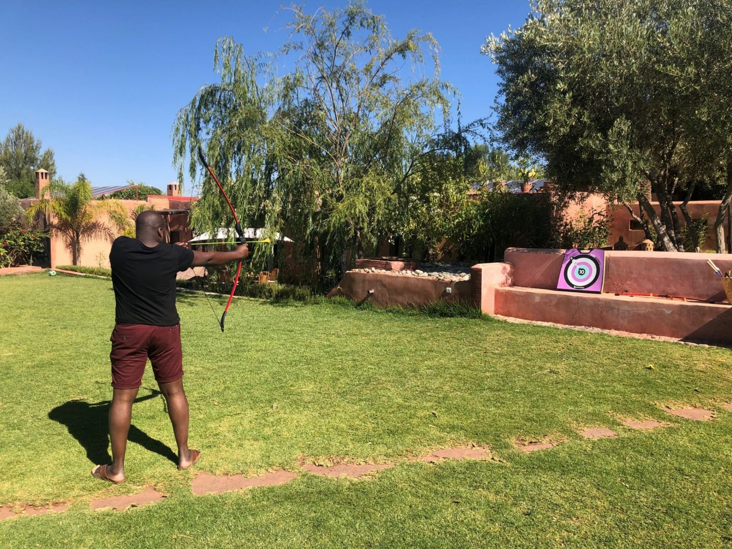 Archery : practising hunting for my food
