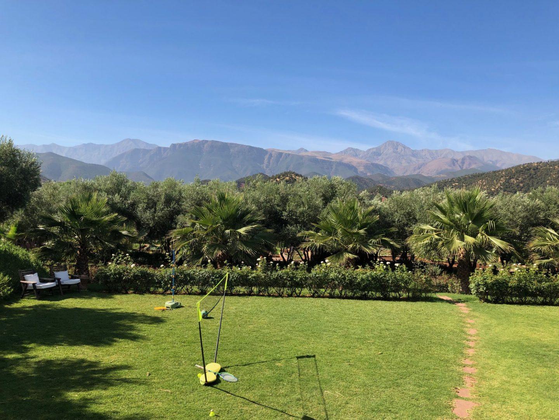 Badminton with Atlas mountain views