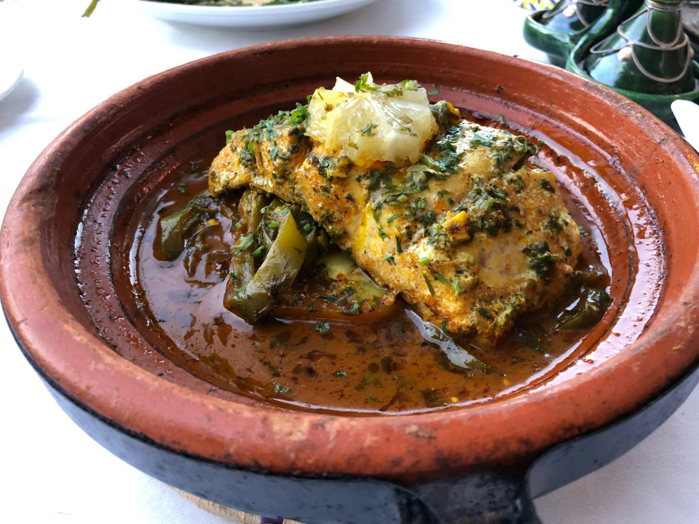 Fish Tagine at Kasbah Bab Ourika