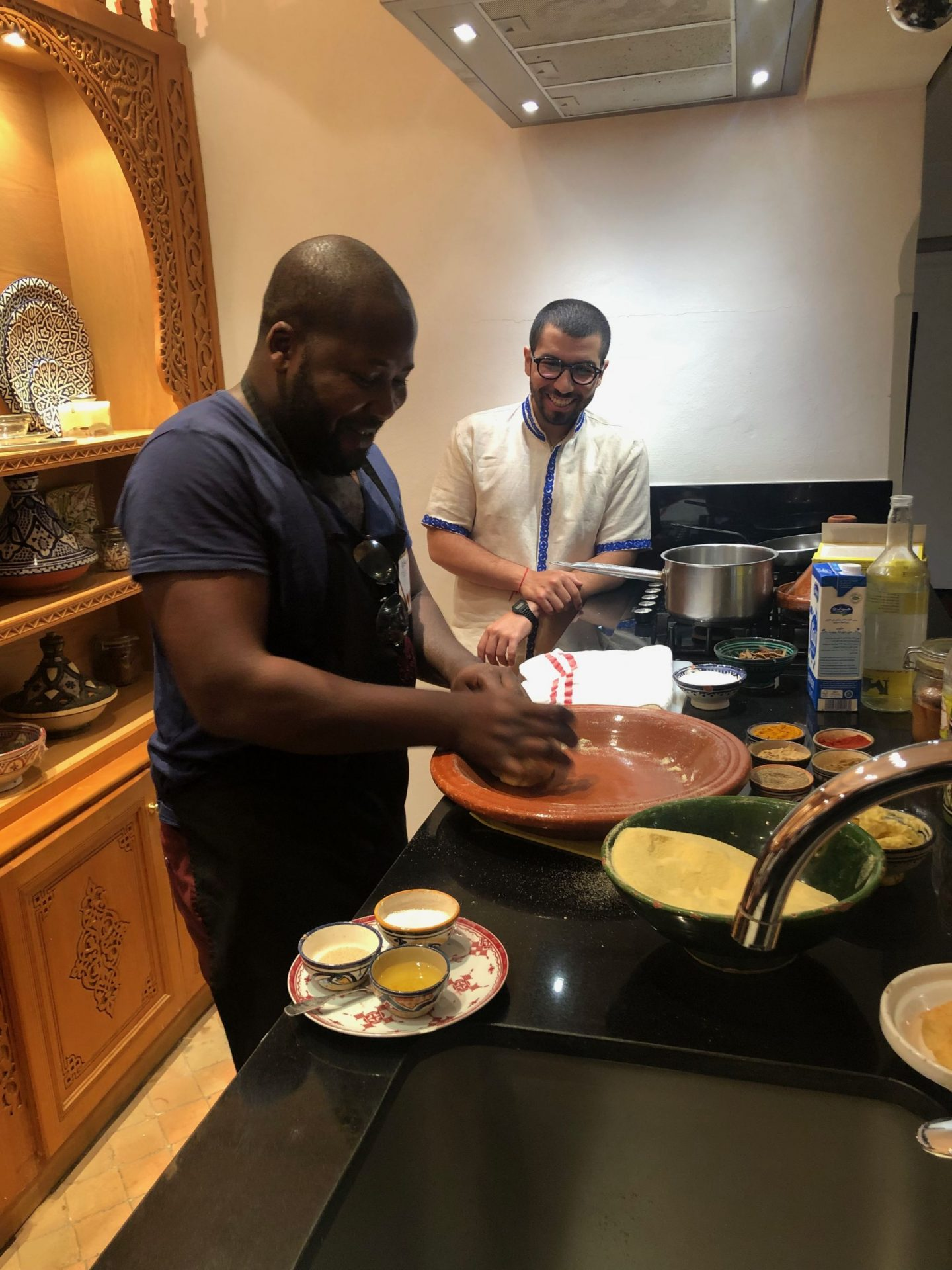 Cooking at la maison Arabe with the chef