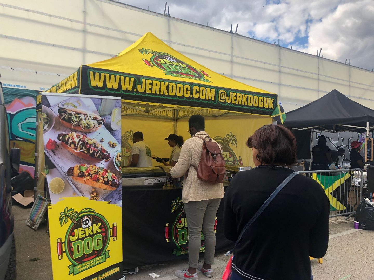 London jerk festival hotdogs