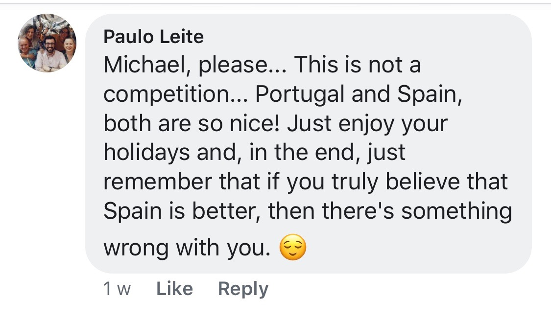Comments from Portuguese friends about Spanish food