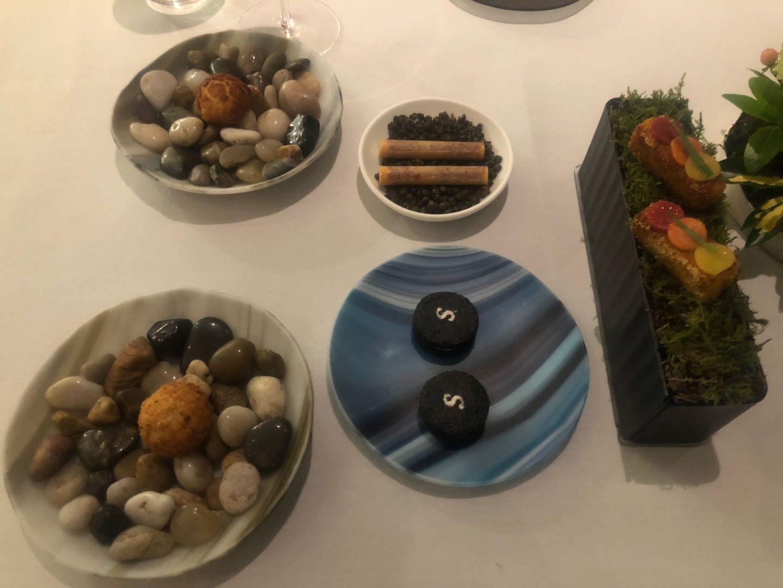 10 course menu at restaurant Story