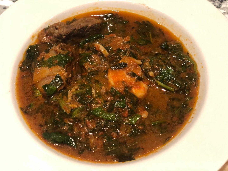 Nigerian spinach stew